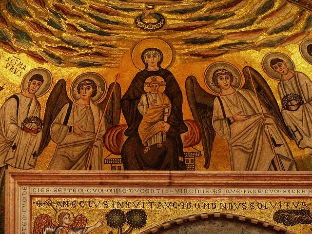 mozaika panny marie