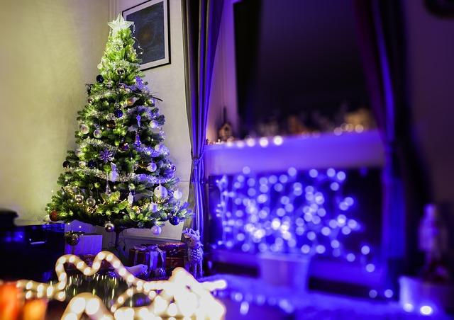 vánoční stromek u okna