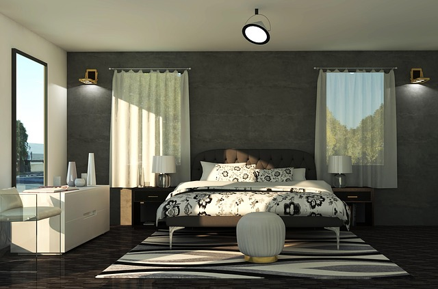 ložnice, postel,